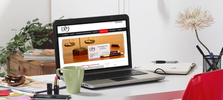 Изработка на уеб сайт за DIM Avocats