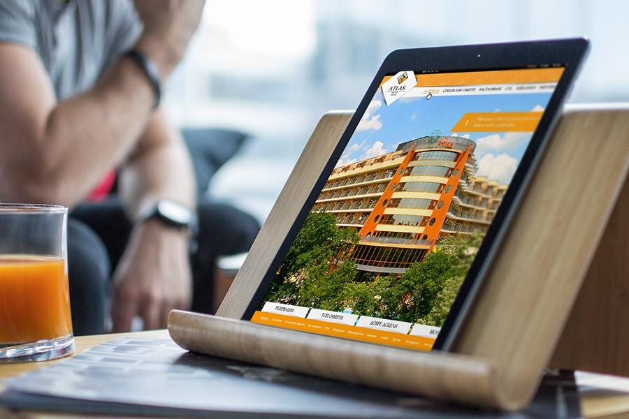 Уеб сайт на хотел Атлас