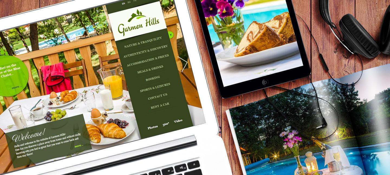 Уеб сайт на ваканционно селище Гърмен Хилс
