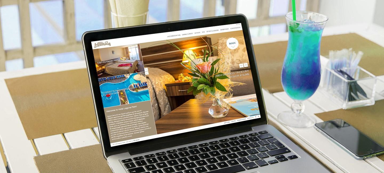 Изработка на уеб сайт за хотел Лагуна парк