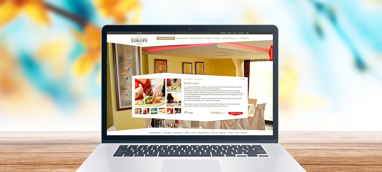 Уеб сайт на хотел Европа