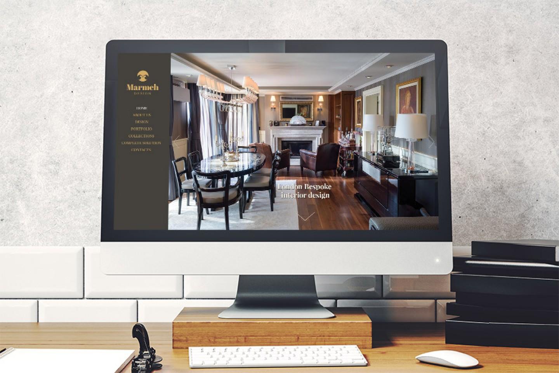 Уеб сайт за интериорен дизайн на Мармех