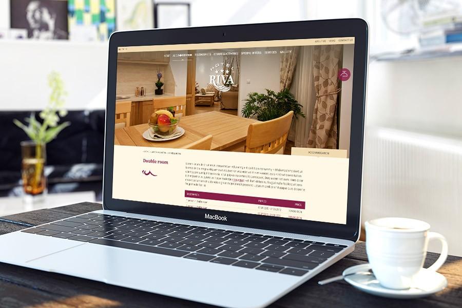 Уеб сайт на хотел Рива