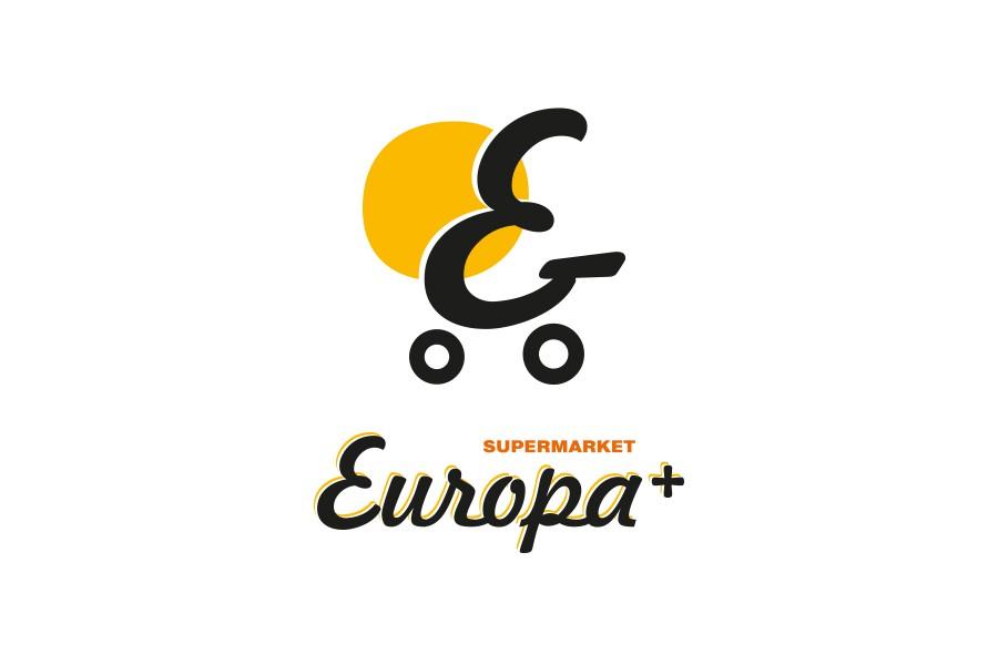 Лого дизайн на супермаркети Европа плюс
