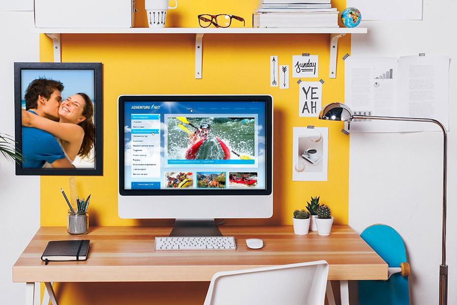 Уеб дизайн и рекламни материали за Адвенчър нет