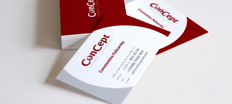 Визитни картички Консепт