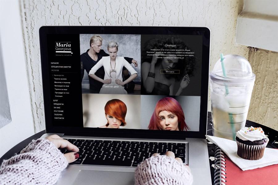 Привлекателен, стилен, луксозен уеб сайт за Мария Георгиева (еп. 3)