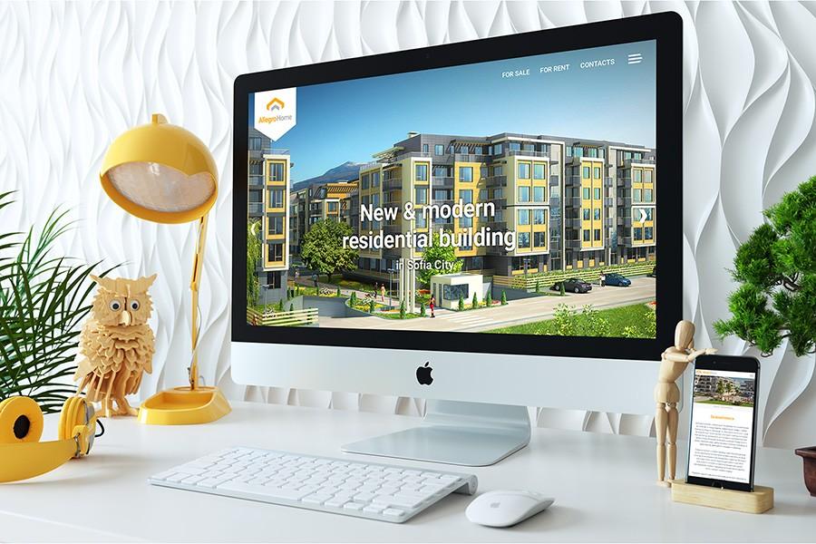 Уеб сайт за комплекс Allegro Home