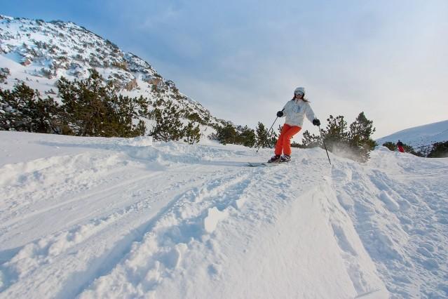 Рекламна фотография за ски курорт Боровец