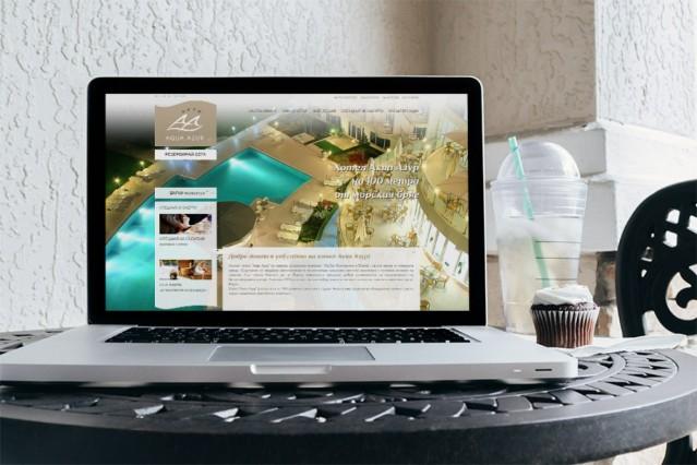 Уеб дизайн на хотел Аква Азур