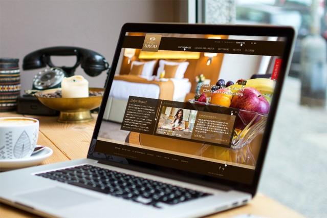 Уеб сайт на хотел Брод Лъки