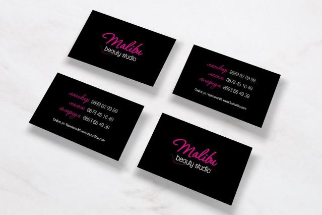 Корпоративна идентичност на студио за красота Малибу